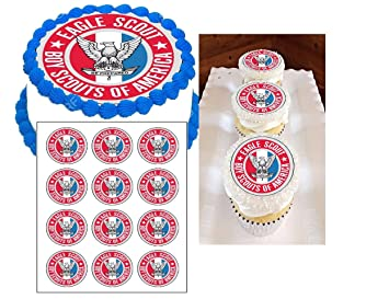 Eagle Scout Emblem Edible Cake Image Eagle Scout Cake Topper