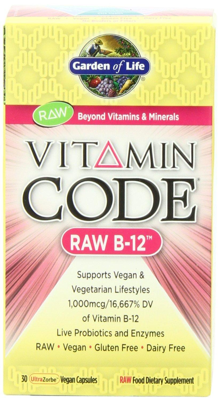 Garden of Life Vitamin Code Raw B-12, 30 Capsules (2-Pack)