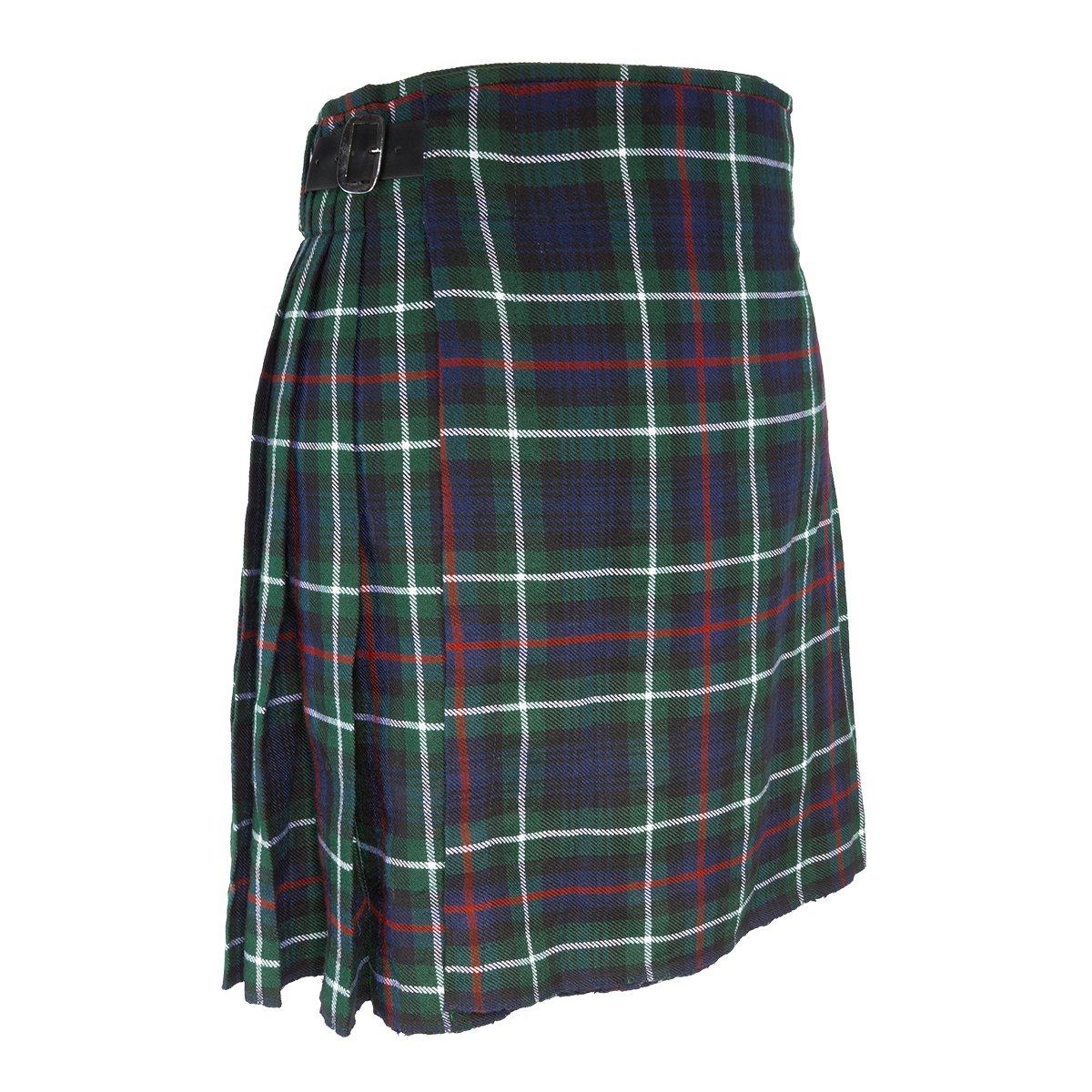 "Best Kilts Men's Traditional Scottish 5 Yard Mackenzie Tartan Kilt 30""-32"" Green"