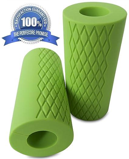 perfecore grueso agarre Pesas Grips – fácilmente convertir mancuernas, barras de pesas, y pesas