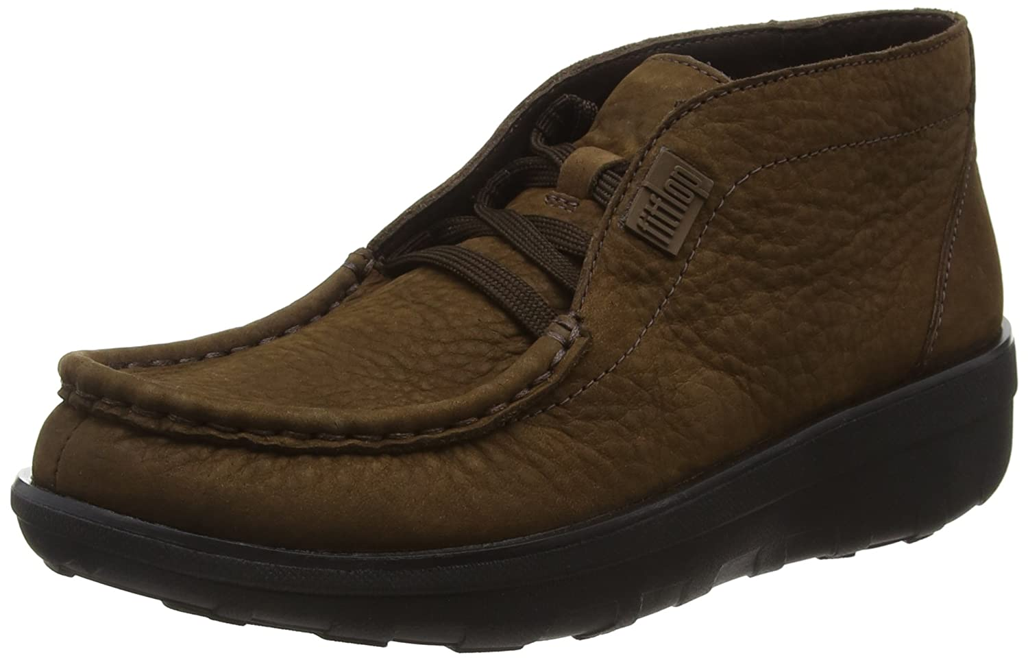 FitFlop Damen Damen FitFlop Loaff Lace-up Stiefeletten, Schwarz Braun (Chocolate 030) 2e9865