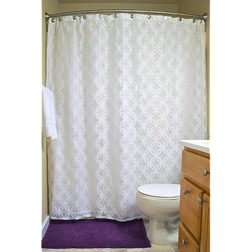 DII Everyday 100 Polyester Extra Long Bath Fabric Shower Curtain For Bathroom 72x72