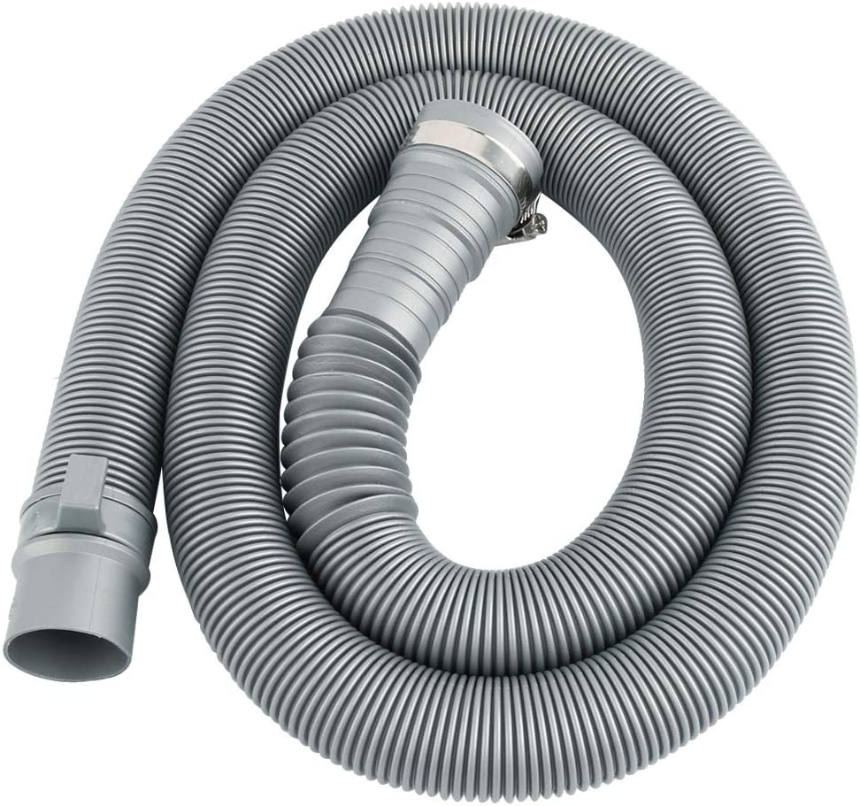 uxcell 4 Ft Universal Wash Machine Drain Extension Hose Portable Wash Machine Dishwasher Discharge Drain Hose Replacement