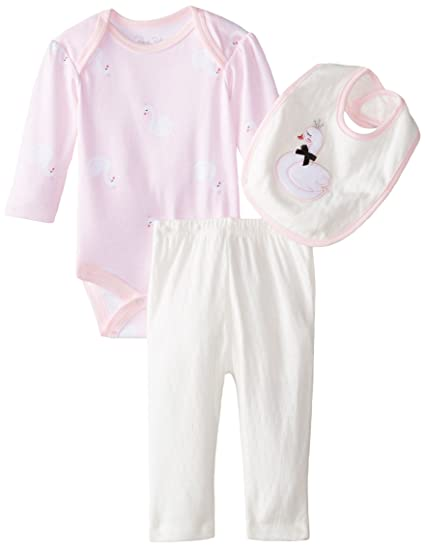 2c3c9695a Amazon.com  Rene Rofe Baby Baby Girls  3 Piece Swan Legging Set with ...