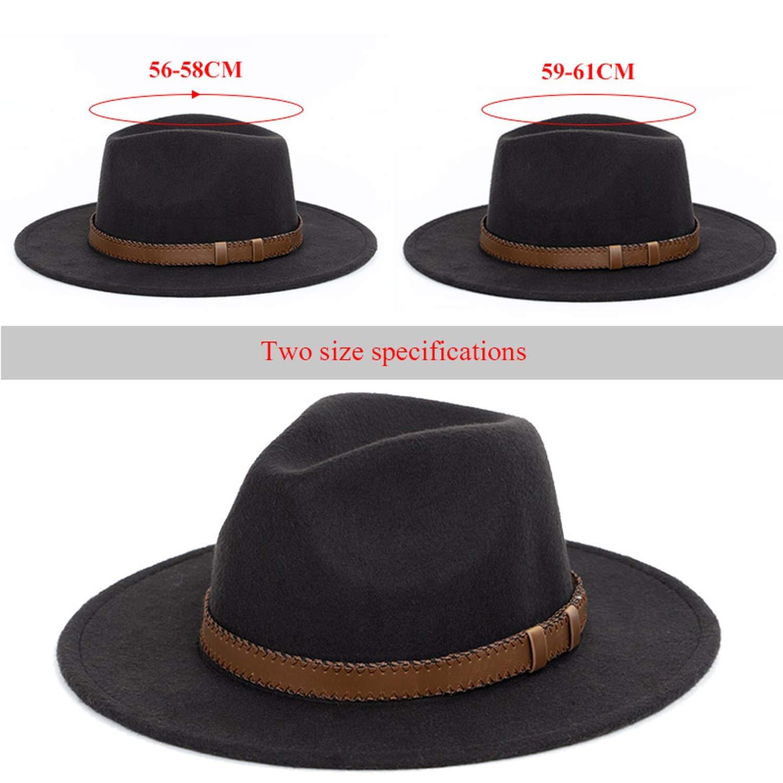 DOSOMI Winter Autumn Imitation Woolen Women Men Fedoras Wide Brim hat Men Bowler Hat