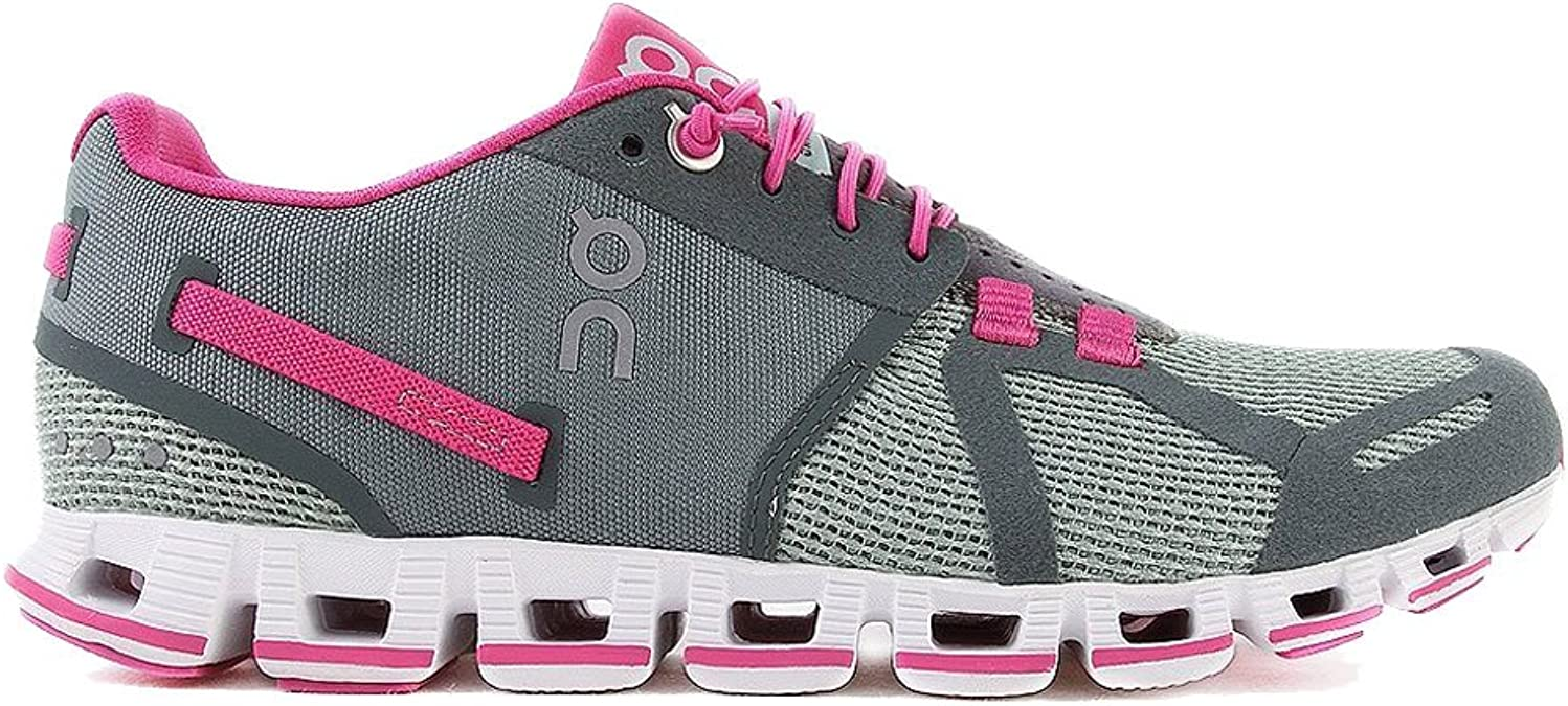O&N Zapatillas de Running Cloud Gris/Verde Bosque/Fucsia EU 39 (US ...