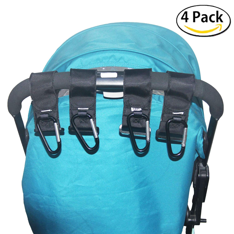 3008f2de6 HIG Stroller Hook - 4 Pack of Multi Purpose Hooks - Hanger for Baby Diaper  Bags, Groceries, Clothing, Purse (4 PCS)