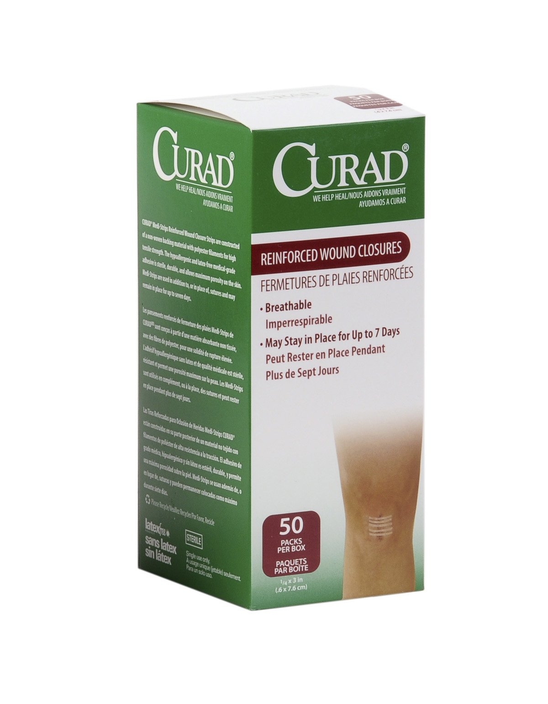 Medline NON250501 Curad Sterile Medi-Strips, Closure, Wound, 1'' x 5'', White (Pack of 400)