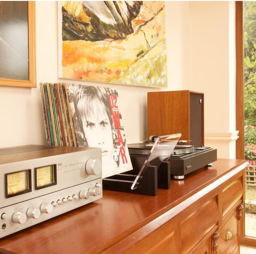 KAIU Rangement Disques Vinyles Stockage 50 Albums 33 Tours /& Singles 45 Tours