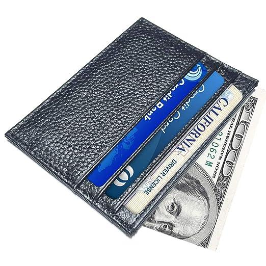 661c96cb3bd4 AnnabelZ Slim Genuine Leather Credit Card Holder Minimalist Card ...