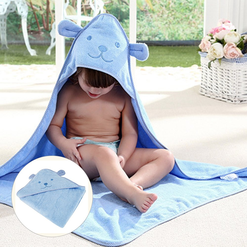 NewSoul1us 2 Pack 100% Organic Bamboo Hooded Baby Towel Ultra Soft, Beach and Bath Towel, Antibacterial and Hypoallergenic, Highly Absorbent for Infant and Toddler, 0-6 Years Old (2 pack)
