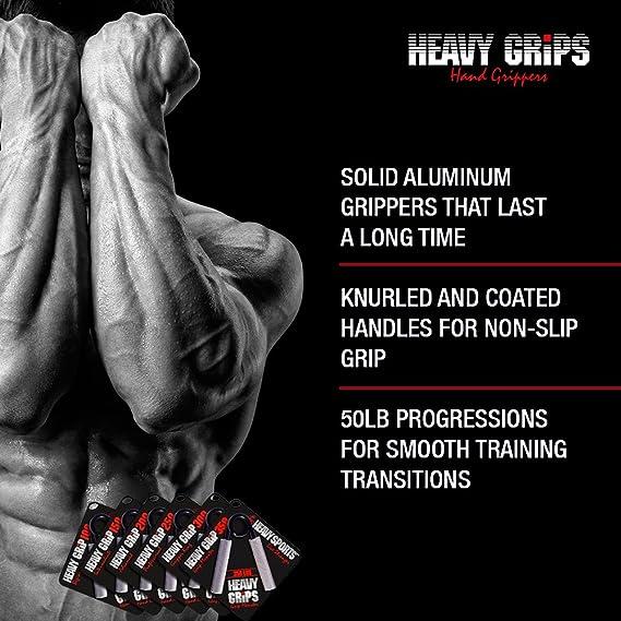 Heavy Sports Schwere Griffe Handgreifer Set 3 Anti-Rutsch-200LB 250lb 300LB effektiv Ihre Handkraft trainieren Gezielte Unterarm Handgelenk und Hand /Übungen Erweiterte Handgriff St/ärkungs
