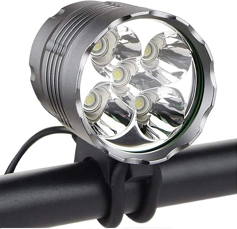 SONGBIRDTH Bike Front Light MTB Bike Front Light Cycling Headlight Bicycle LED Flashlight Waterproof Lamp with Base Black