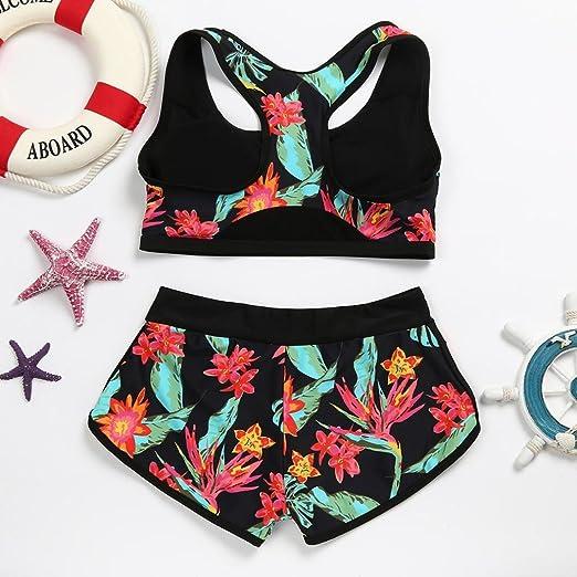6dea6afe791 Amazon.com: Fheaven Womens Girls Vest Tops Padded Swimsuit Shorts Swim  Trunks Set (S, Green): Beauty