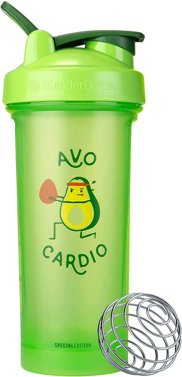 BlenderBottle Just For Fun Classic V2 Shaker Bottle, 28-Ounce, Avo Cardio