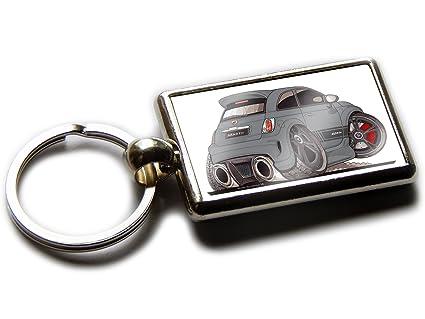 Koolart - Llavero Cromado con Vista Trasera para Fiat 500 ...