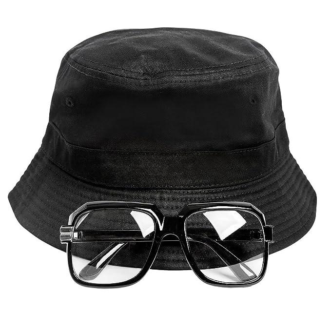 80s/90s Hip-Hop Costume Kit (Bucket Hat + Old School Squared Glasses  sc 1 st  Amazon.com & Amazon.com: Gravity Trading 80s/90s Hip-Hop Costume Kit (Bucket Hat ...