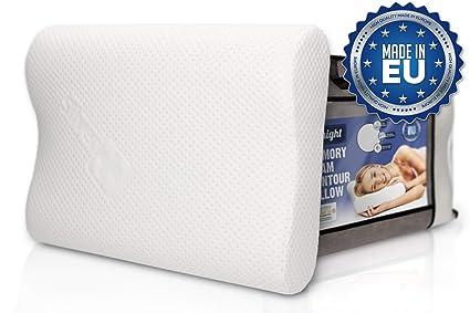 Anti Snore Ergonomic Contour Memory Foam Bed Pillow Back Head Neck Pain Relief