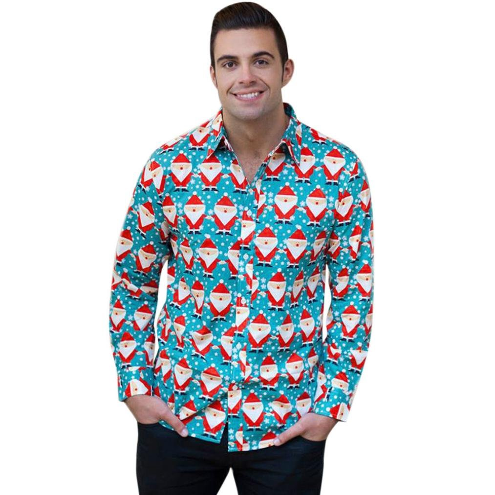 Quistal Christmas Shirt, Shirt Snowman Christmas Tree Print Long Sleeve Xmas Shirt Plus Size Tops YS0921018