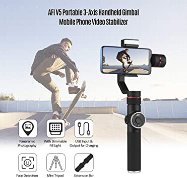 3-Axis Camera Tripodwith Phone Clip for DJI OSMO Mobile 3//2 Handheld Smartphone Gimbal Stabilizer Tripod