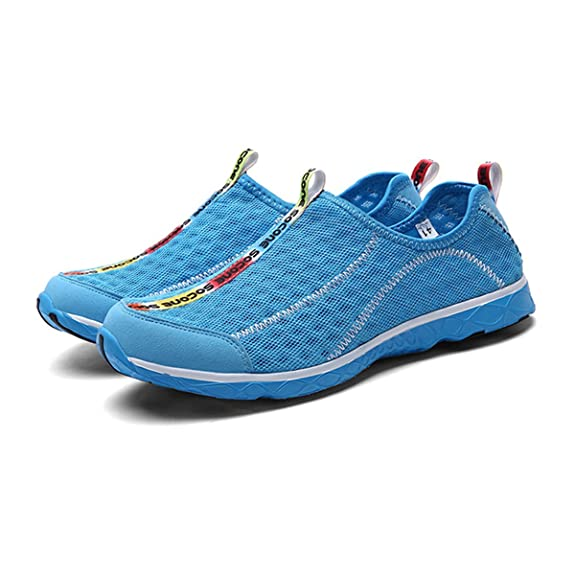 CHNHIRA Zapatos de Agua Secado Rápido y Zapatillas de Malla Para Mujer (39 EU Azul) DMbjMd