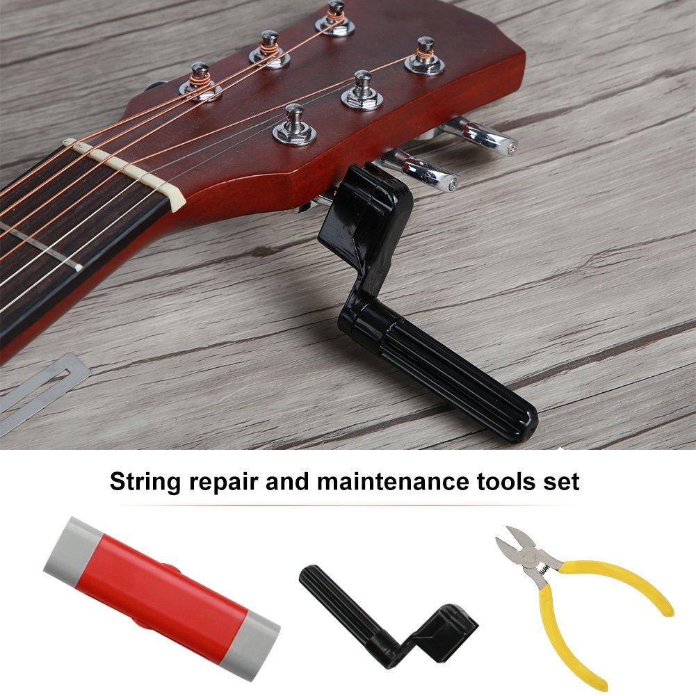 Herramientas de reparación y mantenimiento de guitarra profesional para el cuidado de guitarras, juego completo de herramientas de reparación y ...