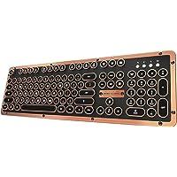 Azio Retro Classic Luxury Vintage Backlit Bluetooth Mechanical Keyboard (Artisan)