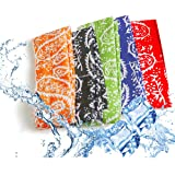 Pm0606 ICE COOL SCARF Neck Wrap Cooling Scarf, inflated in 8-10 mins on soaking in water. For golf, outdoor, walking, All Out
