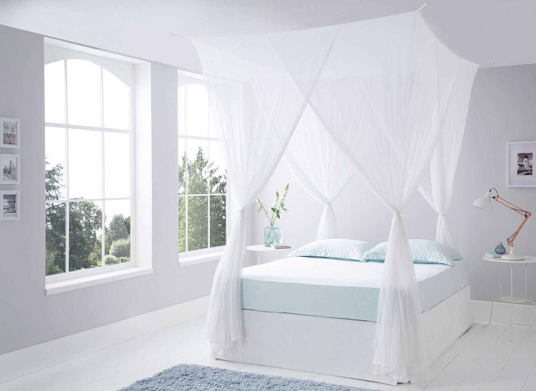Zanzariera Letto Cotone : Lussuoso cotone box zanzariera king size cotone letto a
