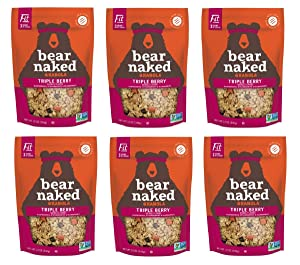 Bear Naked Triple Berry Fit Granola - Non-GMO, Kosher, Vegan - 12 Oz (Pack of 6)