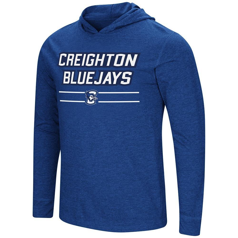 Colosseum メンズ Creighton Bluejays 長袖Tシャツ パーカー B07DWN36PM  Medium