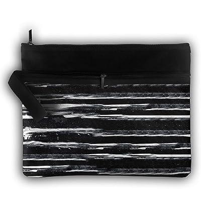 Black And White Abstract Stripes Cartoon Trip Toiletry Bag Travel Receive Bag Organizer Portable