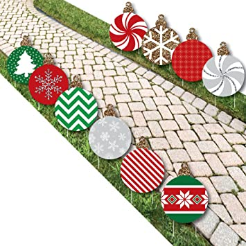 ornaments lawn decorations outdoor holiday and christmas yard decorations 10 piece - Outdoor Christmas Lawn Decorations