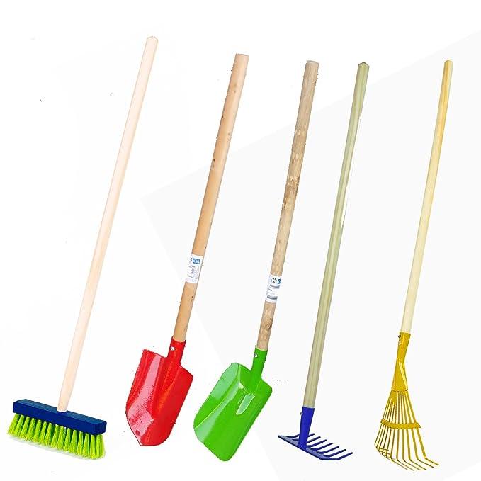 Kinder Gartengeräte Kindergartengeräte 1 von 8, Kinder Garten Werkzeuge Geräte Schaufel, Besen, Rechen, Laubbesen, Harke, Gru