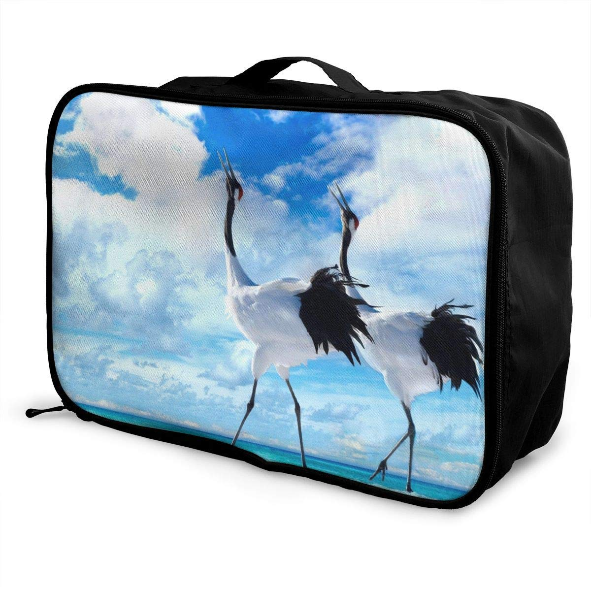 Lightweight Large Capacity Portable Duffel Bag for Men /& Women Wild White Crane Travel Duffel Bag Backpack JTRVW Luggage Bags for Travel