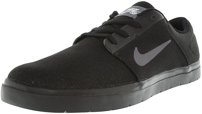 6a00f93954b9 Nike Men s Sb Portmore Ultralight Black Dark Grey White Ankle-High  Skateboarding Shoe - 10.5M