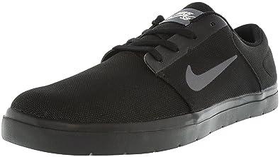 NIKE Mens SB Portmore Ultralight CN Shoes Black Dark Grey White Size 7.5