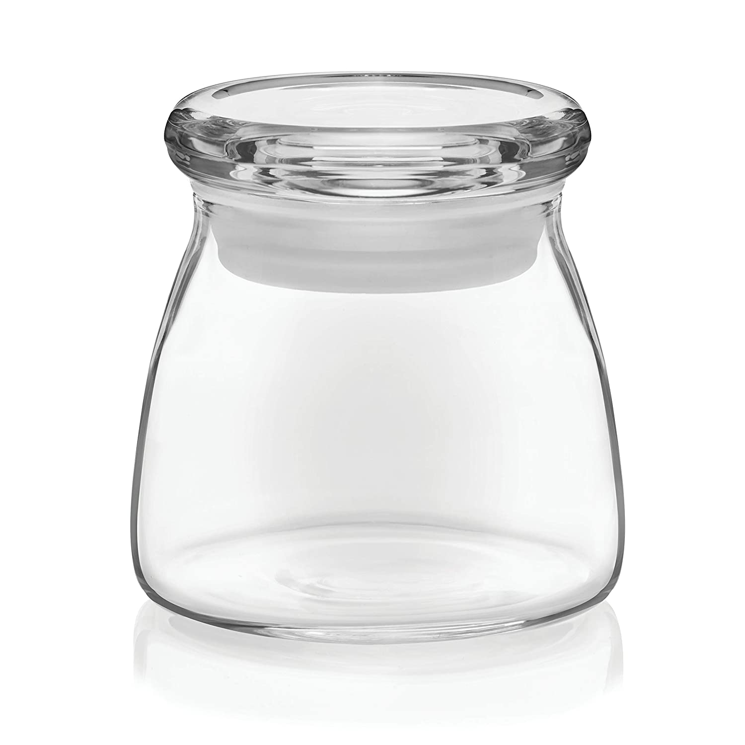 Libbey 71355 Glass Jar With Flat Lid Set Of 12 1 Toples Multicolor Cookie Jars Kitchen Dining