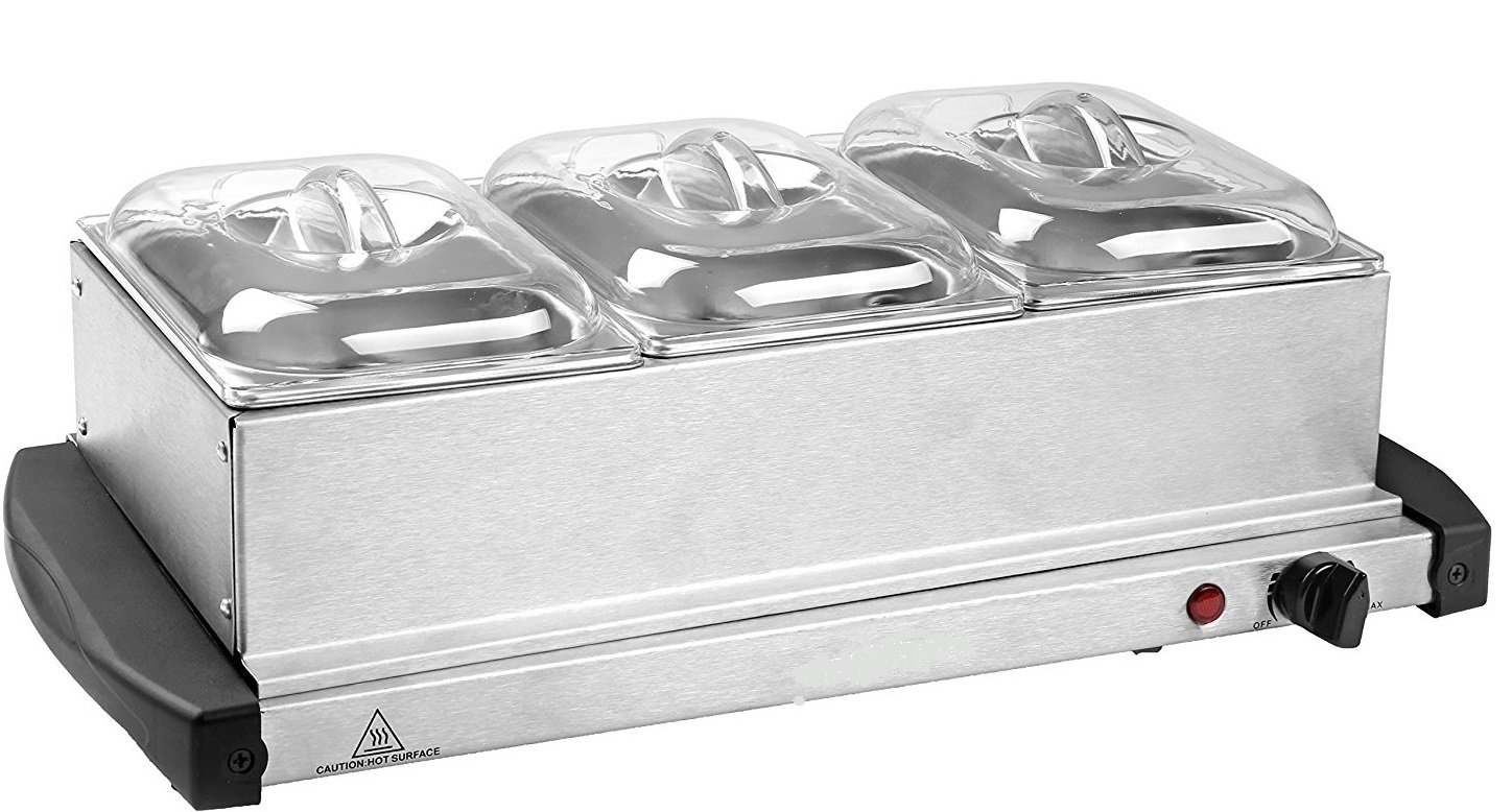 J-JATI Buffet Warmer 3- warming Trays 16x26 Surface 200W 170F-180F by J-JATI