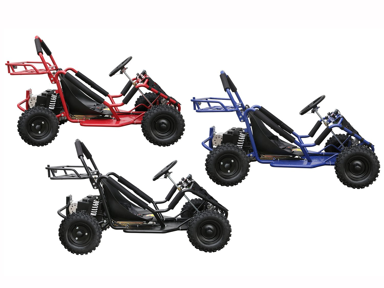 JCMOTO Electric Go Karts For Kids 4 Four Wheelers Off Road Tire 48v 1800w Black (Upgraded versions) by JCMOTO (Image #7)