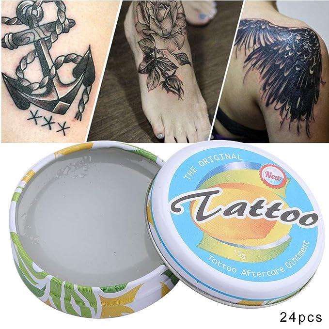 24Pcs 15g Crema hidratante para después del tatuaje, Crema para el ...