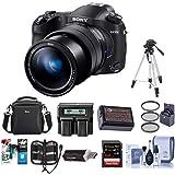 Sony Cyber-Shot DSC-RX10 IV Digital Camera Black - Bundle with Camera Case, 72mm Filter Kit, 64GB SDXC U3 Card, Spare…