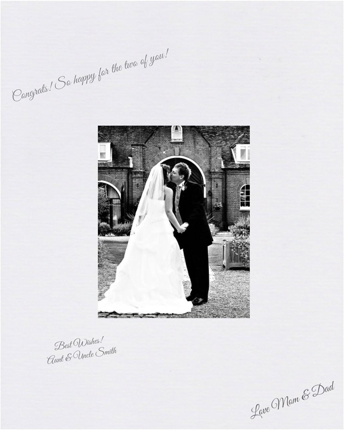 """23/""""x19/"""" holds 5x7 BABY SHOWER BRIDAL WEDDING CUSTOM SIGNATURE PHOTO FRAME"""