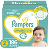 Baby Diapers Size 2, 186 Count - Pampers Swaddlers, ONE MONTH SUPPLY (Packaging and Prints on Diapers May Vary)