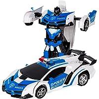 変形玩具車 リモコンカー ロボット ラジコン 遠隔操作 変形することができる 子供の好きなギフト