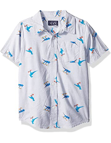 d693756abcb1 The Children s Place Baby Boys  Short Sleeve Button-up Shirt