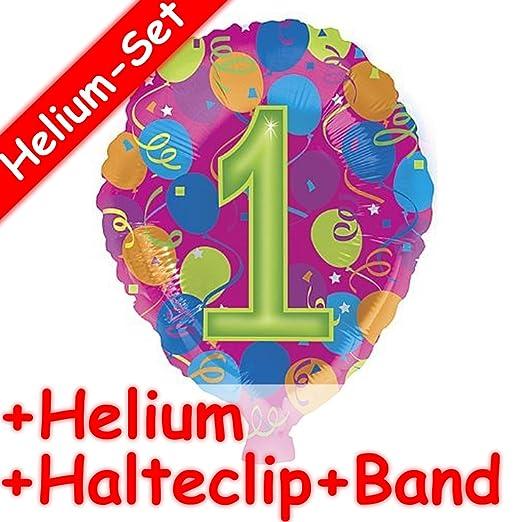 Carpeta Globo Juego * Número 1 + Helium Relleno + Clip de ...