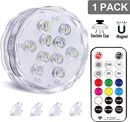 Magnetic Pool lights Underwater Lights with... Idealife Submersible LED Light