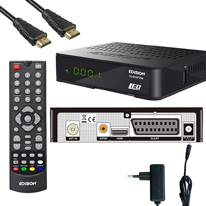 Kabelabel Edision Kabelreceiver Hybrid Für Digitales Elektronik