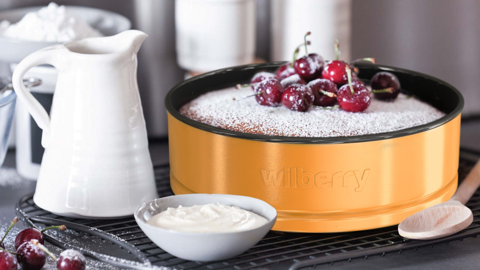 Springform Pans Set of 3   Two Round & One Heart-Shaped Cheesecake Pans   Leak Resistant & Top Rack Dishwasher Safe by Wilberry (Image #3)